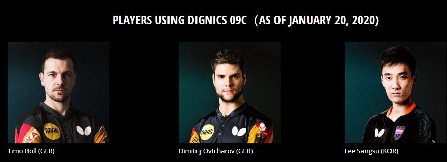 Tuyển thủ dùng Dignics 09C